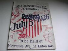 United Independence Day Celebration July 5th 1926 Chicago Il Program Great Ads