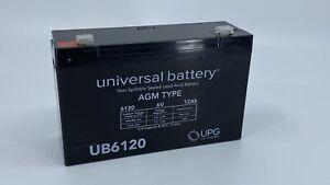 UPG UB6120 6V 12 Ah Non-Spillable Sealed Lead-Acid Battery - Brand New!