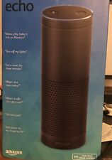 **Amazon Echo w/ Alexa Voice Control Assistant & Bluetooth Speaker, Black**