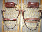 *BINDINGS ONLY* New Pair LEATHER Universal Snowshoe Bindings Straps Harness USA