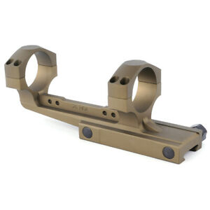 Cantilever Scope Mount 34mm Ring Offset 20 MOA for 20mm Picatinny Rail Mount FDE