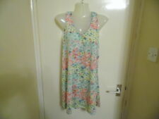 Ladies multi coloured floral racer back top size 12