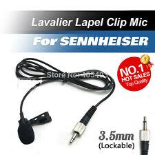Lavalier Lapel Tie Clip Cardioid Condenser Microphone for Sennheiser Wireless