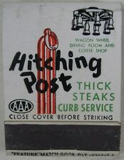 1940's Matchbook Feature Lincoln Auto Court Hitching Post Cheyenne, WY