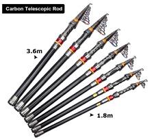 Telescopic Fishing Rod Combo 1.8M - 3.6M Carbon Fiber Spinning Reel Sea Boat