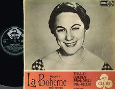 Puccini LA BOHEME Highlights LP MONO Gueden TEBALDI Decca ACE OF CLUBS UK ACL186