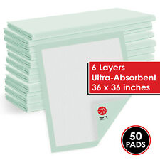 50 36x36 Large Pee Pads Adult Urinary Incontinence Disposable Bed Pee Underpads