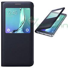 Samsung S-view Flip Cover Galaxy S6 Edge Nero Blu