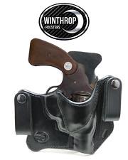 """Colt Detective Special 2"""" Barrel 6 shot revolver IWB Dual Snaps R/H Black"""