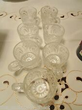 "L E SMITH 7 punch cups PINWEELS & STARS SLEWED HORSESHOES PATTERN, 2 1/4"" tall[*"