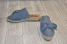 Sam Edelman Lynda Bow Espadrille Mules-Women's size 6 M Blue Denim