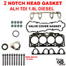 2 NOTCH Engine Cylinder Head Gasket Set W Bolts ETTA TDI BEETLE 1.9L Diesel ALH