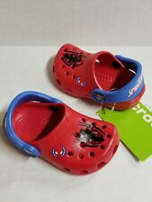 New Boys Baby Crocs Spider-Man Classic Clog Shoes SZ C 4/5