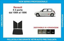 pellicole oscuranti vetri  renault 5 3p dal 1984-1996 kit posteriore
