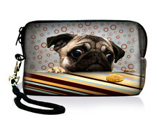 Cute Pug Digital Camera Bag Case Pouch + Strap For Sony Canon Nikon DC Universal