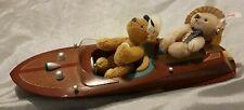 Steiff Teddy bear set with Motorboat