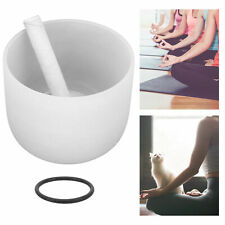 More details for crystal singing bowl b note for sacral frosted quartz accessories 8 inch
