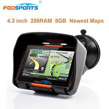 "Impermeable 4.3"" LCD Auto Moto GPS Navegador Bluetooth SAT NAV 8GB+Europa Mapa"