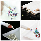 2PCS White Wooden Point Pen Wax Picker Pencil For Nail Art Rhinestones Bead