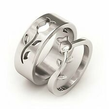 NEW Stainless Steel Couple Promise Engagement Ring Wedding Band