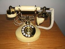 Vintage Yellow Ezy-Fone Model #Ez-36 Dial Board Telephone Made In Taiwan