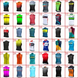 Mens Cycling Sleeveless Jersey Vest Team Bike uniform Summer Road Bicycle Shirt