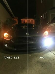 White LED Halo Fog Lights Driving Lamps for 2017 2018 2019 2020 Fiat 124 Spider