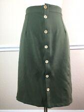 Brickyard Buffalo Womens Skirt Green Military Style Button Front Elastic Size M