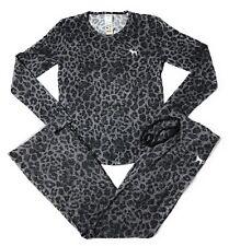 Victoria's Secret PINK Pajama Set Animal Print Logo Dog Super Soft Large