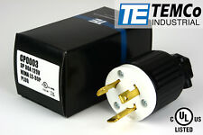 TEMCO NEMA L5-30P Male Plug 30A 125V Locking UL Listed for Generator RV Camper