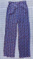 ❤️ BARDOT Casual Loose Pants Blue Print Size 8 Buy7=FreePost L561