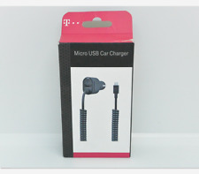 New Open Box OEM T-Mobile 3.4A Black Micro USB Car Charger with Extra USB Port