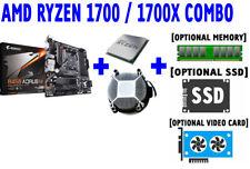 AMD RYZEN 7 1700 1700X CPU GIGABYTE B450 AORUS M AM4 DDR4 Motherboard SSD COMBO