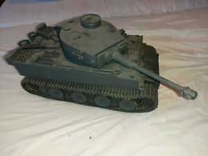 Tamiya Tiger 1 r/c Tank Vintage upgraded tracks and gearboxes