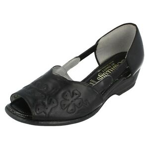 Damen Sunways Equity Schwarz Peeptoe Schuhe Stella Größe Eu 2.5 D Passform