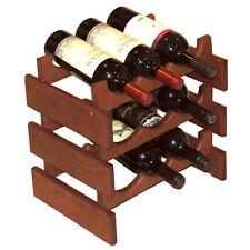 """Wooden Mallet 9 Bottle Dakota Wine Rack WR33MH Wine Rack 14"""" x 14.5"""" x 10.75"""""""