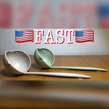 2 PACK 2 in 1 Soup Spoon Long Handle Creative Porridge Filter Dinnerware Cooking