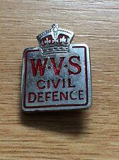 KINGS CROWN WVS CIVIL DEFENCE HOME FRONT - ENAMEL PIN BADGE - SIMPSON LONDON