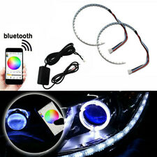 Wireless Control RGB LED Demon Eye Halo Ring Headlight Projector Hot bluetooth