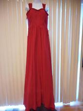 "NEW Stunning Beautiful OK Bridal Dress Red Long  Formal Dance Prom 34""Waist"