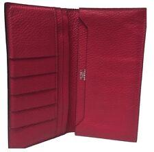 Hermes Wallet Dark Pink Leather Long Credit Card Organizer