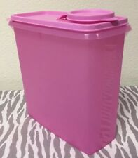 Tupperware Modular Mates Small Cereal Keeper 11 Cups Sheer Pink w/ Matching Seal