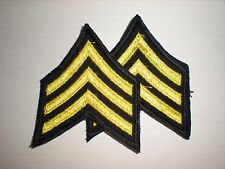 MILITARY/ POLICE COSTUME SERGEANT RANK STRIPES - YELLOW/ BLACK - 1 PAIR