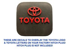 Gloss Red Vinyl Decal Overlays For Factory OEM Toyota Hitch Plug New Free Ship
