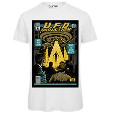Maglia Uomo T-Shirt Cotone con Stampa Ironica Alieni Copertina Vintage UFO Tuned