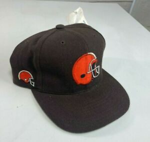 DEADSTOCK Vintage Cleveland Browns American Needle Blockhead SnapBack Hat Wool