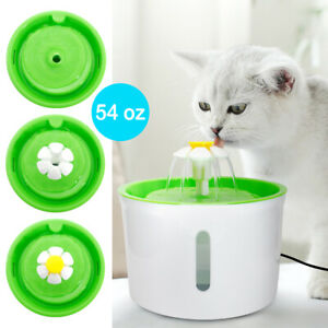 Automatic Cat Dog Water Fountain Electric Pet Drinking Dispenser Bowl & Filters