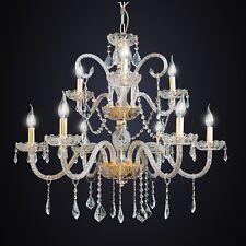 Lampadario classico 6+3 Luci cristallo oro salotto soggiorno DESIGN SWAROVSKY