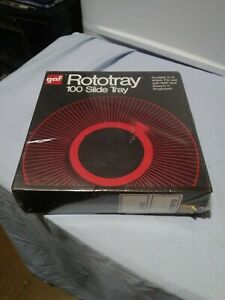 GAF Rototray 100 Photo Slide Tray 2X2 Slides GAF & Sawyer projectors NEW SEALED