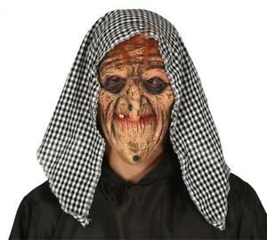 Maschera befana vecchia strega in lattice con fazzoletto